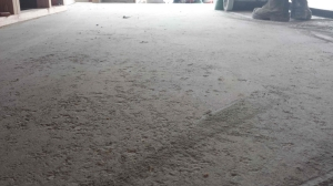 Damaged soft floor prior to Lythic treatment